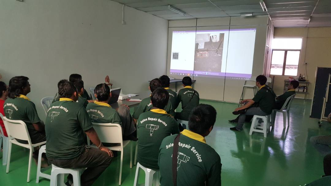 Safety training at our office