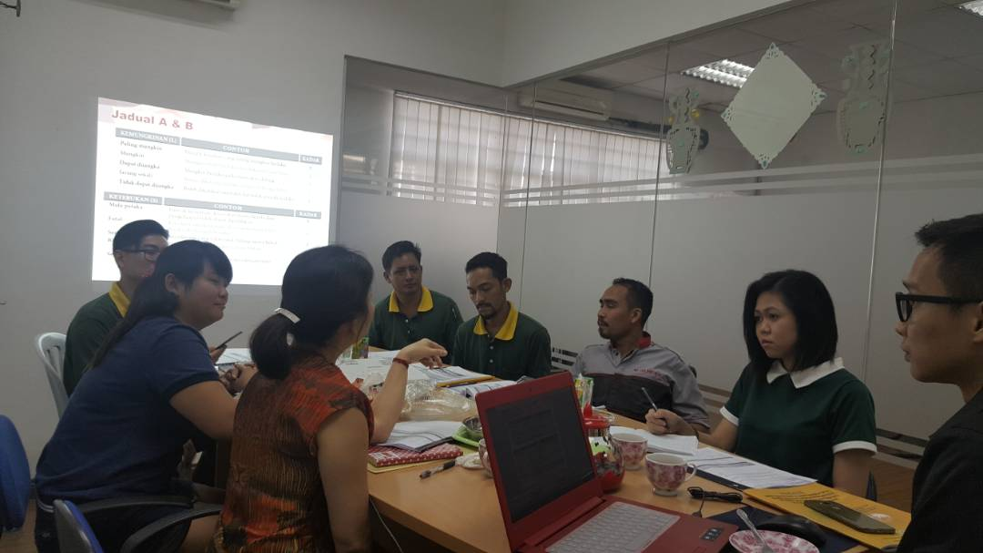 Discussion about safety training to our staff